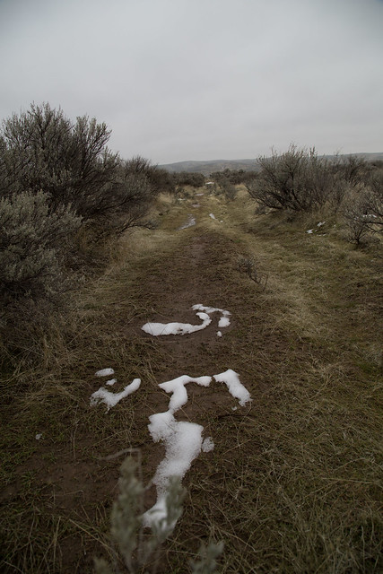 Winter Oregon Trail in Idaho