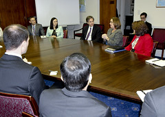 Deputy Secretary of State Antony 'Tony' Blinken meets with junior officers at the U.S. Embassy in London, United Kingdom, on March 4, 2015. [State Department photo/ Public Domain]
