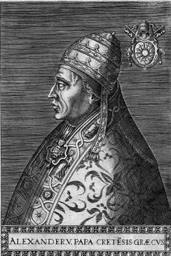 Portrait of Antipope Alexander V