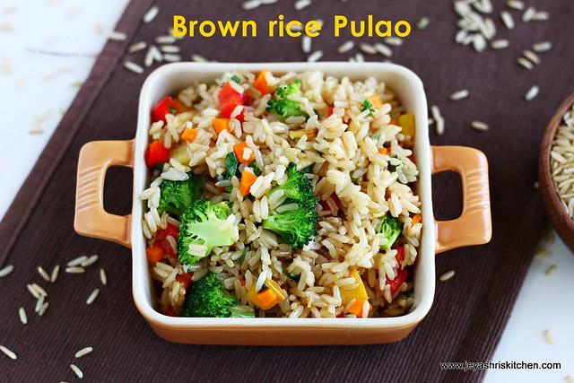 brown rice- pulao