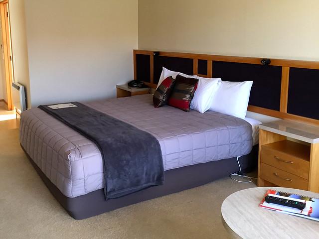 Hotel room in New Zealand