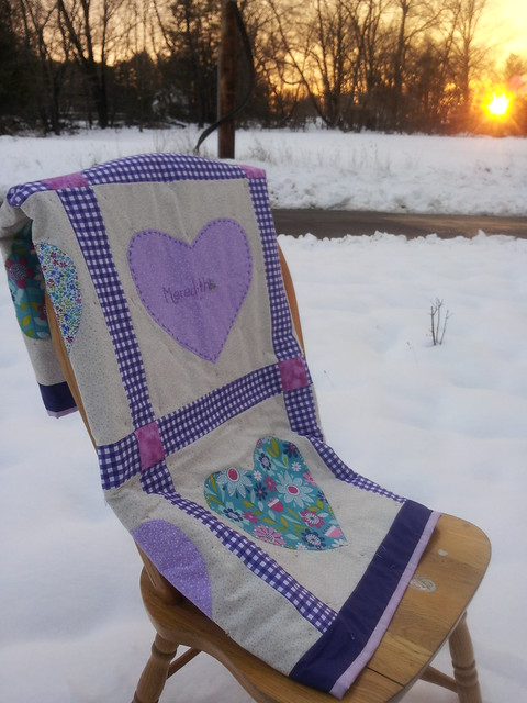 Heart Baby Quilt-Finished!