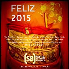 Desde el @s8cinema os queremos desear a todos, un Feliz 2015 repleto de buenas pelis y mucho celuloide! Feliz Ano Novo · Bon Any Nou · Urte Berri On · Happy New Year · Bonne Année · Felice Anno Nuovo · Gelukkig Nieuwjaar · Frohes Neues Jahr · Gott nytt år