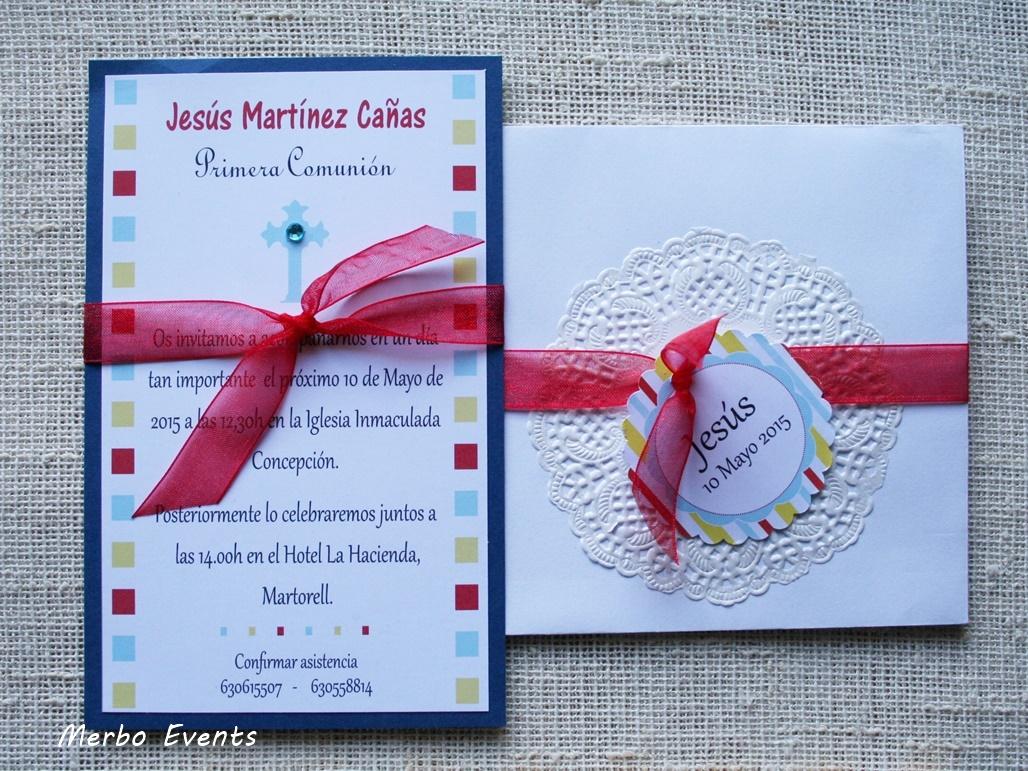 Conjunto invitaciones comunión niño Modelo Italy Merbo Events