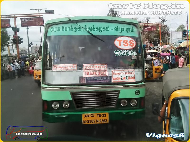 TN-23N-2362 of Gudiyatham Depot Route Vellore - Sholinganallur via Sriperumbudur, Manimangalam, Mudichur, Tambaram.