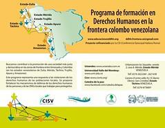 Programa de Formación en #DDHH en la Frontera Colombo Venezolana #Mérida