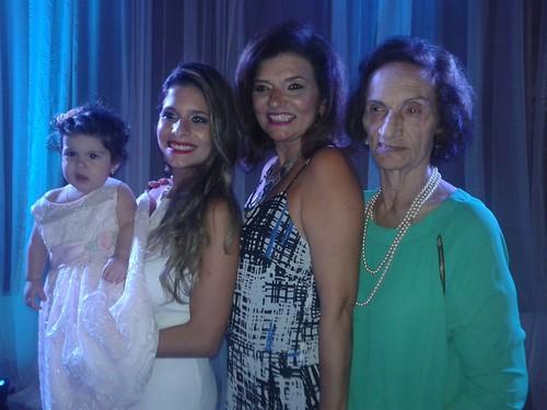 Quatro gerações: Beatriz Chaves, Clara Chaves, Maria Clara Imbiriba e Déa Alho