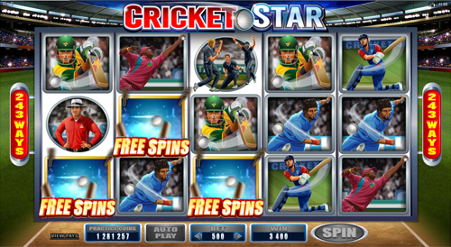Cricket Star Free Spins Feature
