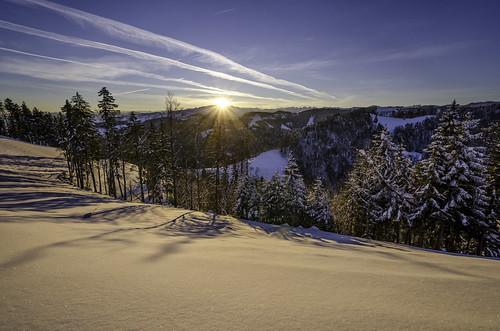 blue schnee winter shadow sun snow mountains sunrise landscape schweiz switzerland nikon suisse angle wide wideangle berge blau nikkor wonderland landschaft sonne sonnenaufgang schatten steg säntis weitwinkel churfirsten toggenburg 7000 7k tösstal hulftegg mosnang d7000