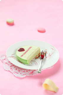 Raspberry Pistachio Yule Log