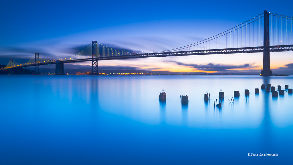 Morning Calmness - San Francisco bay bridge