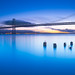 Morning Calmness - San Francisco bay bridge by davidyuweb