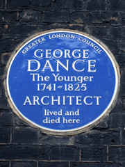 Photo of George Dance the Younger blue plaque