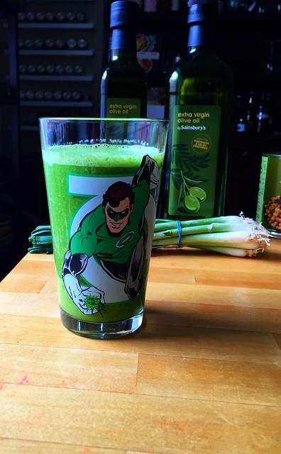 Green smoothie lantern.