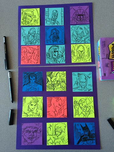 Post-it note sketches