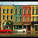 Evening Light on Depot Town's Historic Storefronts by sjb4photos