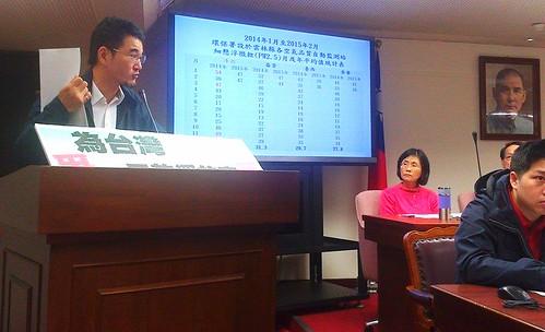 立委劉建國針對石化業工安、污染頻傳,重批台灣不應繼續發展石化業。