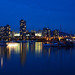 Evening over False Creek by leuntje