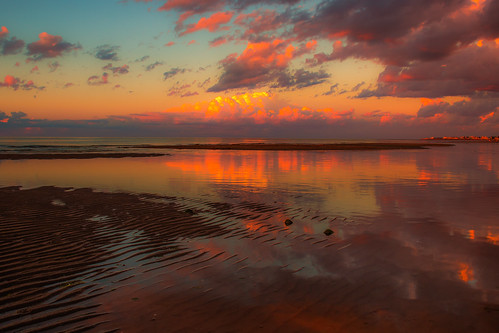 sunset clouds sea ocean beach reflections newbrunswick canada zeiss landscape coast sky shore maritime