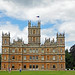 Approaching Highclere Castle from the park by Monceau