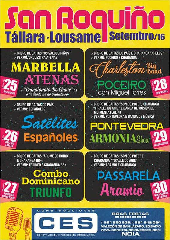 Lousame 2016 - Festas do San Roquiño de Tállara