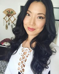 Did a fun thing today with @sm0y. I liked my makeup and hair I did. 🙆💄💋  #makeup #motd #longhair #hazeleyes #asian #beauty #contour #glow #koreanskincare #amarteskincare #mua #monolids