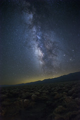Milky Way over Devil's Golf Course at Death Valley