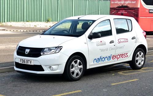 FD16 BTV 'Skills Coaches' Dacia Sandero on 'Dennis Basford's railsroadsrunways.blogspot.co.uk'