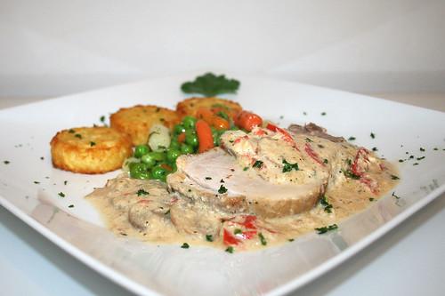 41 - Italian milk pork roast - Side view / Italienischer Milch-Schweinebraten - Seitenansicht