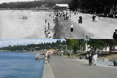 Alki dyptich, Seattle, 1911 and 2010
