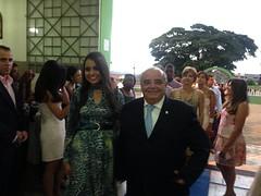 Em Itutinga, missa de ação de graças em homenagem aos formandos. Reconhecimento a diretora, professores e a prefeita Alba, ex diretora da Escola Estadual3