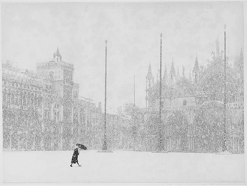 snowfall in venice by BrunoRosso 1965