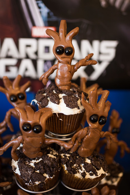 Baby Groot Cupcakes from Guardians of the Galaxy