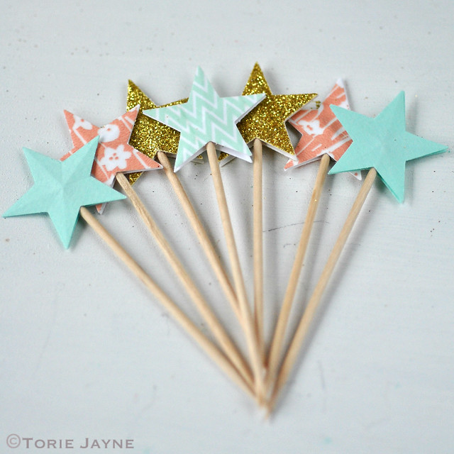Star cupcake picks 1