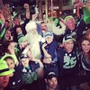 The fun crowd after Seahawks crush Arizona #Phionex #Arizona #Seahawks #Cardinals #Arizona #NFL #Santa #Christmas #christmastree