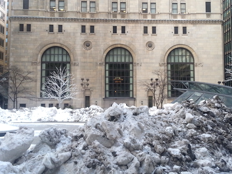 Commerce Court in winter