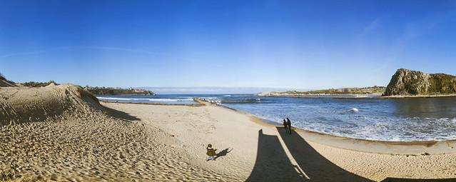 Panorámica playa de Suances