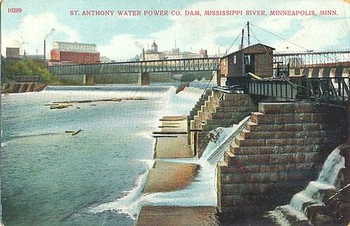 1856-1908 / Advertisement from The St. Anthony Falls Water Power Company