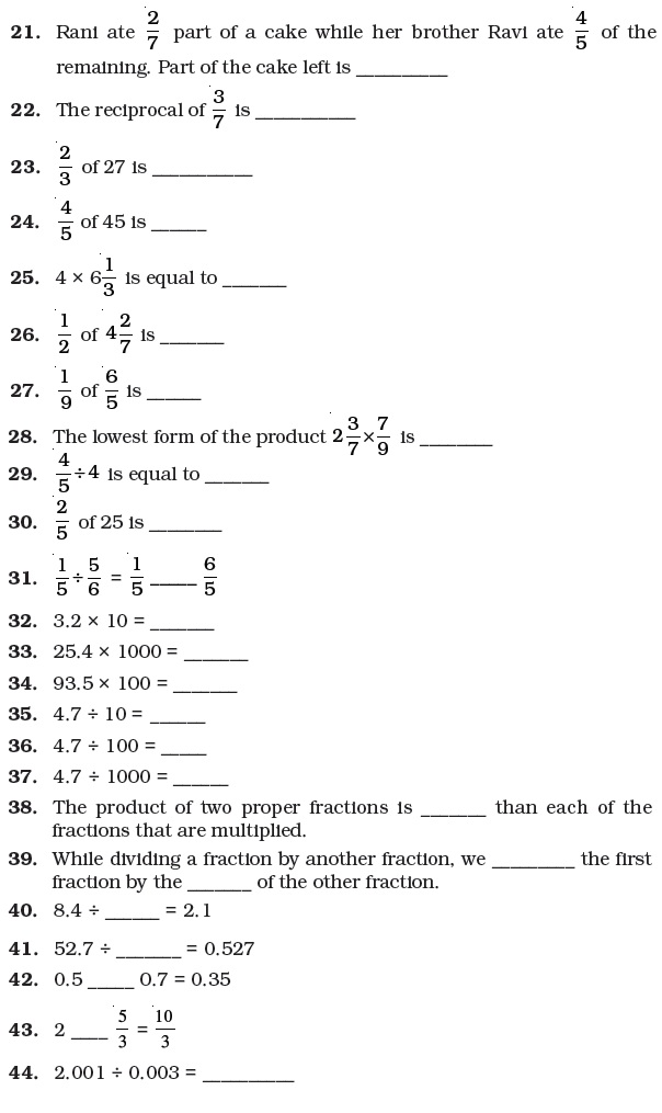 math worksheet : fractions worksheets for grade 7 cbse  vii cbse chapter fractions  : Year 7 Fractions Worksheets