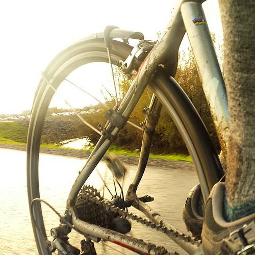 Muddy bike.  #commute #cycling #sanjose