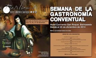 Cartel de la Semana de la Gastronomía Conventual, con el Menú.