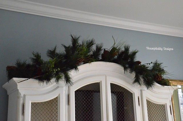 Garland over French Country Hutch-Housepitality Designs