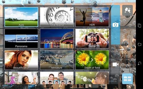 เลือกโหมดถ่ายภาพของ ASUS fonepad 8