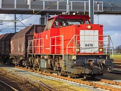 MaK DE 6400 - DB Schenker 6476 - Gemengde goederentrein - Sation Lage Zwaluwe - 2 maart 2015