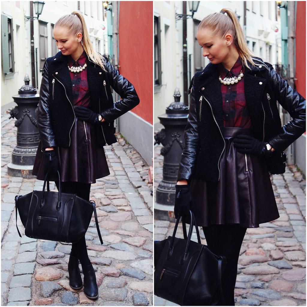 burgundy-leather-skirt-hm