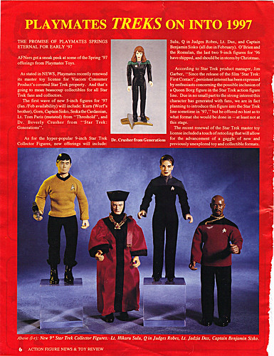 "ACTION FIGURE NEWS & TOY REVIEW : ""PLAYMATES TREKS ON INTO 1997"" pg.6 (( 1997 ))"
