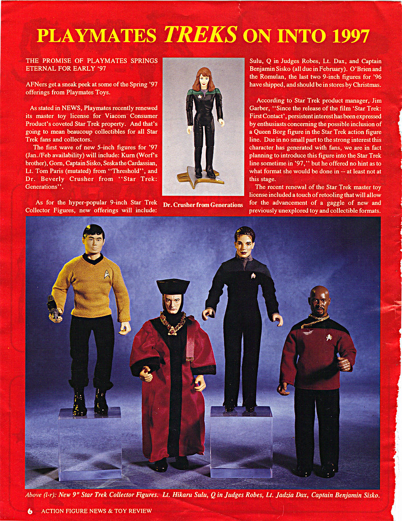"ACTION FIGURE NEWS & TOY REVIEW : ""PLAYMATES TREKS ON INTO 1997"" pg.6 (( 1997 )) by tOkKa"