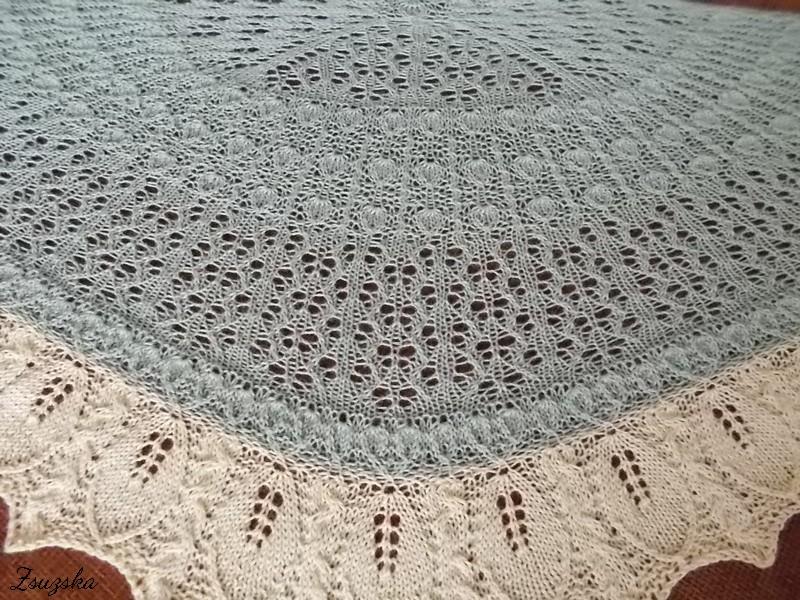 Vanilla Orchid, knitting, shawl, (4)