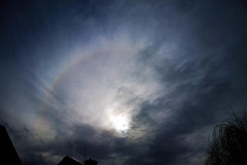 Partial 22 degree solar halo 2:25pm 23/02/15