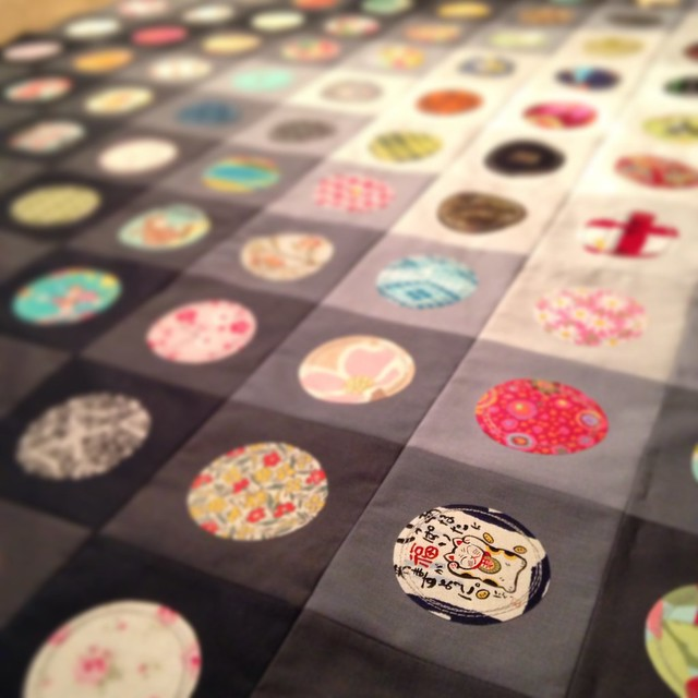 On the Bubble Quilt in Progress